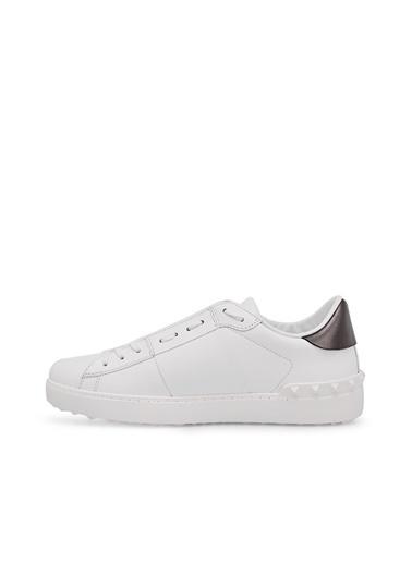 Valentino Hakiki Deri Sneaker Ayakkabı Erkek Ayakkabı S0830 Pst A01 Beyaz